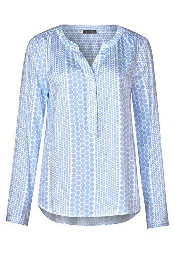 Street One Damen 341804 Bamika Bluse, Mehrfarbig (Heaven Blue 21888), (Herstellergröße: 42)