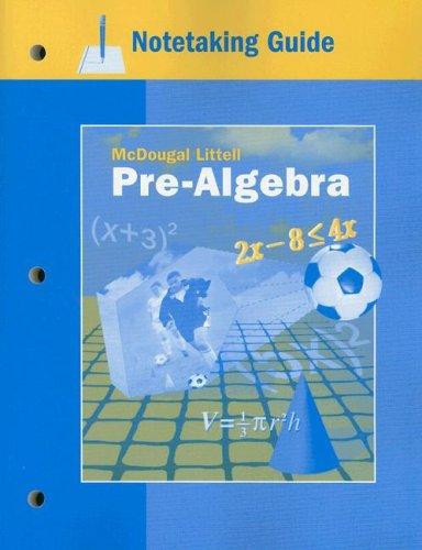 McDougal Littell Pre-Algebra: Notetaking Guide