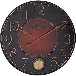 Howard Miller Harmon Gallery Wall Clock 625-374 – Oversized Wrought-Iron with Quartz Movement