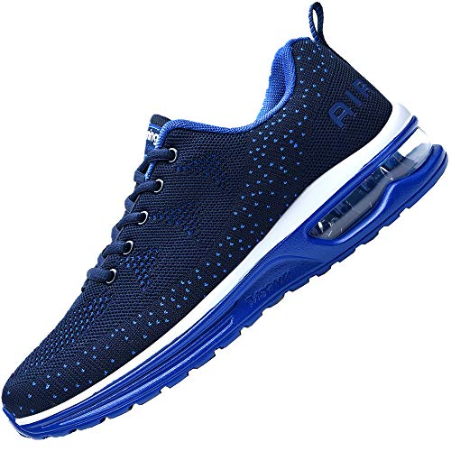 Impdoo Mens Air Athletic Running Sneaker Cute Fitness Sport Gym Jogging Tennis Shoes (DarkBlue US 7.5 D(M))