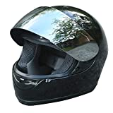 XFMT DOT Adult Motorcycle Flip Up Full Face Helmet Street Dirt Bike ATV Helmets (Black Mirror Shield, X-Large)