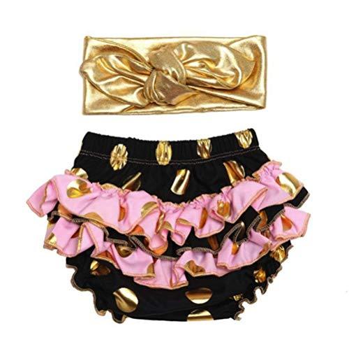 micia luxury(ミシアラグジュアリー) ベビーおむつカバー&ヘアバンド ケーキスマッシュ ハーフバースデー 誕生日 ギフト 6month ブラック×ピンク