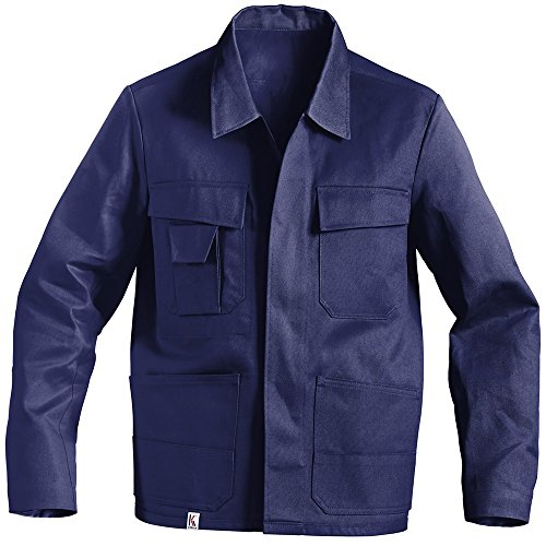 KÜBLER QUALITY DRESS Arbeitsjacke blau, Größe 48, Herren-Arbeitsjacke aus Baumwolle, bequeme Arbeitsjacke von KÜBLER Workwear