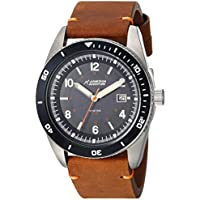 Armitron Adventure Unisex Solar Powered Date Function Dial Brown Leather Strap Watch