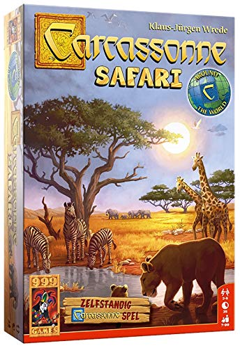 999 Games 999-Car38 Carcassonne: Safari Bordspel Bordspel, Alle Kleuren