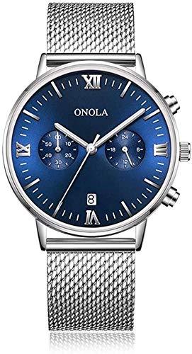 Hombres s reloj de cuarzo de negocios casual nuevos hombres s reloj de cuarzo correa de cuero impermeable cronómetro reloj de moda para negocios G-C