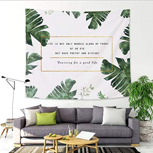 nobranded Frisches grünes Blatt Punkt Pfirsichhaut dicken Wandteppich Stoff Hintergrund Wandbehang Malerei hängenden Stoff