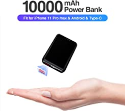 Baseus Mini Power Bank, 10000mAh LED Display Portable Charger with Dual Input & Output, USB Type C External Battery Pack for iPhone 11 Pro Max, Samsung Galaxy iPad Tablet and More