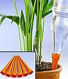 WENKO Bewässerungs-Spikes - 6er Set, mit Schraubgewinde, Polypropylen, 3 x 14.9 x 3 cm, Orange