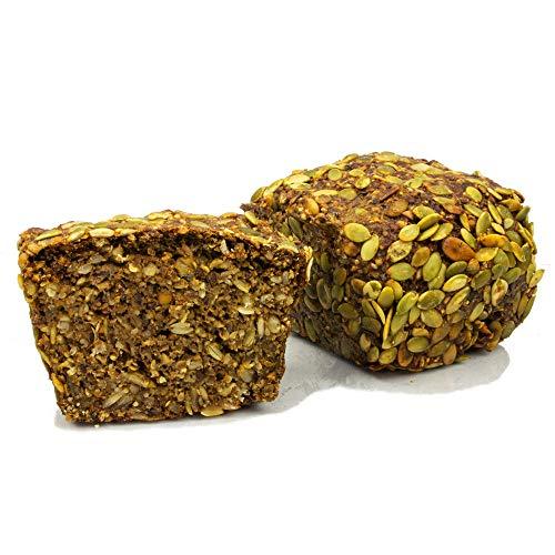 Vestakorn Handwerksbrot, Hafervollkornbrot mit Saaten 500g - frisches Brot – ohne Hefe, ohne Mehlzusatz, selbst aufbacken in 10 Minuten