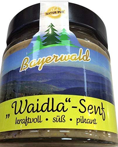 Premium Senf im Glas * Bayerwald Feinkost * 180ml Delikatesse (Waidla Senf)