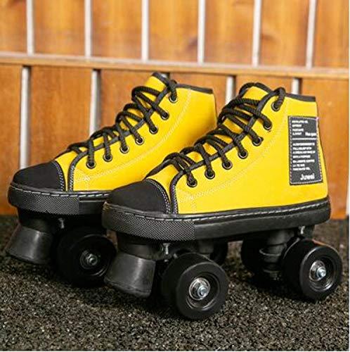 SXDQSZ Skates Doppelreihige Rollschuhe mit 4 Rädern, für Erwachsene, Herren und Damen, blinkende Rollschuhe für draußen, Sport, Kinder, Erwachsene, 36