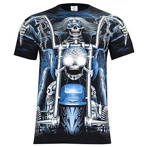T-Shirt Rock Chang Rock Eagle Heavy Metal Biker Tattoo Rocker Gothic (4006) (L)