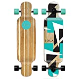 SOLA Bamboo Premium Graphic Design Complete Longboard Skateboard...