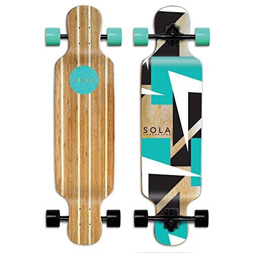 Sola Bamboo Premium Graphic Design Complete Longboard Skateboard - 36 to 38 inch (Future), GCSL099