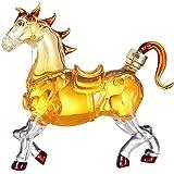 Unknow Licor Decantadores de Vino Decantador de Vino Pegasus Style Copa de Vino 1000ml Set de Copas de Vino Personalidad Animal Jarra de Vino Tinto Soplado a Mano Cristal de Vidrio sin Plomo (Color