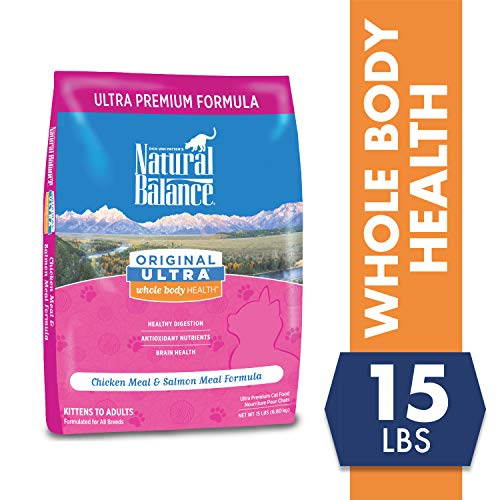 Natural Balance Original Ultra Whole Body Health Chicken Meal & Salmon Meal Formula Dry Cat Food, 15 Pounds