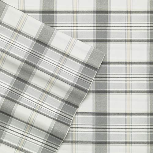 Eddie Bauer Home | Percale Collection | Bed Sheet Set - 100% Cotton, Crisp & Cool, Lightweight & Moisture-Wicking Bedding, Queen, Chinook