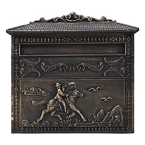 Fine Art Lighting ME03 Wall Mounted Mailbox, Rustic Bronze