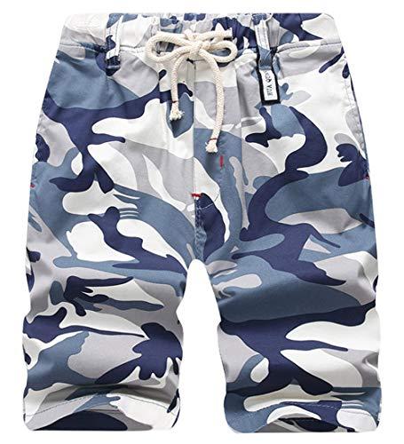 AIDEAONE Shorts Jungen Kinder Militär Shorts Camouflage Shorts Cargo Bermuda Shorts mit Gummibund