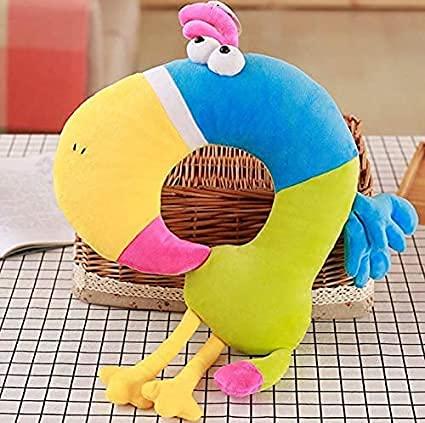 Cojín creativo para el cuello en forma de elefante gris U 35 cm lindo juguete de felpa decoración de habitación regalo de cumpleaños muñeca de peluche regalo creativo