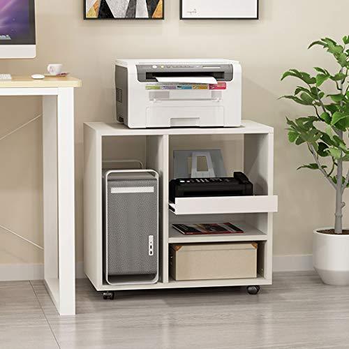 Bürowagen Holz Drucker Rack-Haushalt Removable Storage Rack Datei-Bücher und Zeitschriften Desktop-Computer...