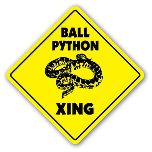 [SignJoker] BALL PYTHON CROSSING Sign xing gift novelty snake constrictor cage food Wall Plaque...