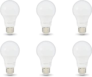 AmazonBasics 60W Equivalent, Daylight, Dimmable, 10,000 Hour Lifetime, A19 LED Light Bulb | 6-Pack