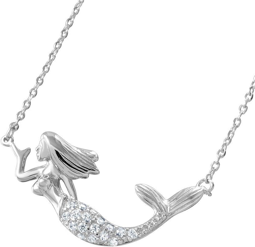 Sterling Silver CZ Mermaid 正規販売店 16+2