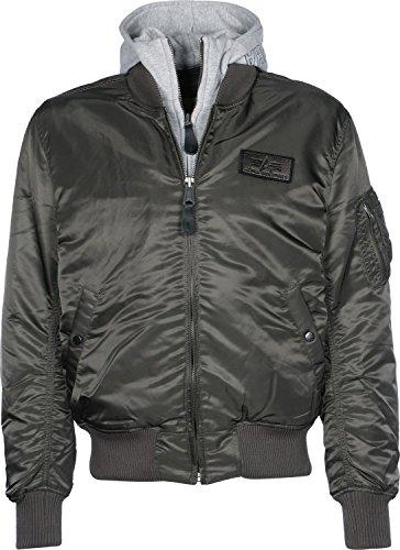 Alpha Industries Flight Jacket|MA-1 D-Tec Chaqueta, Gris (Black 04), M para Hombre