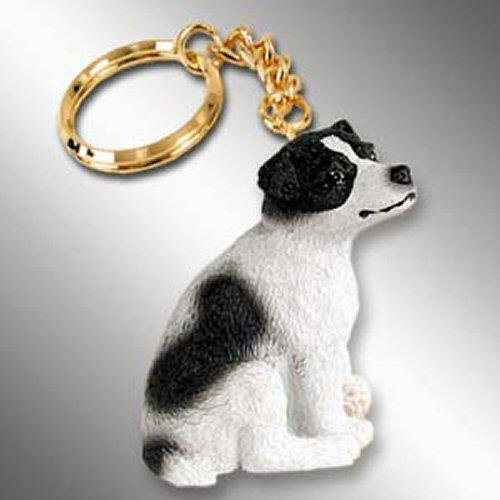 Jack Russell Terrier, Smooth Coat, Black/White Tiny Ones Dog Keychains (2 1/2 in)
