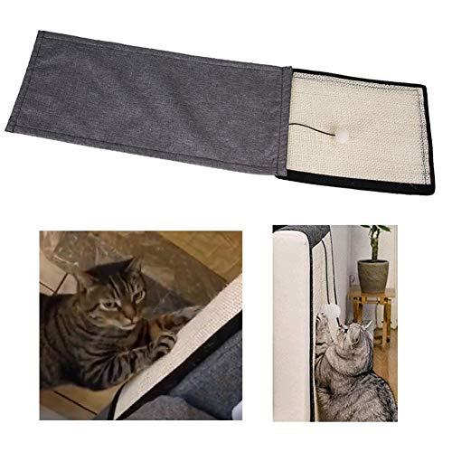 AIMERKUP Alfombrilla Scratch Cat Sofá Scratch Protection Sofá Sisal Scratching para sillón Cat Couch Mat Scratch Mat También Apto para Perros Mascota Adecuada para Pared y Piso Landmark