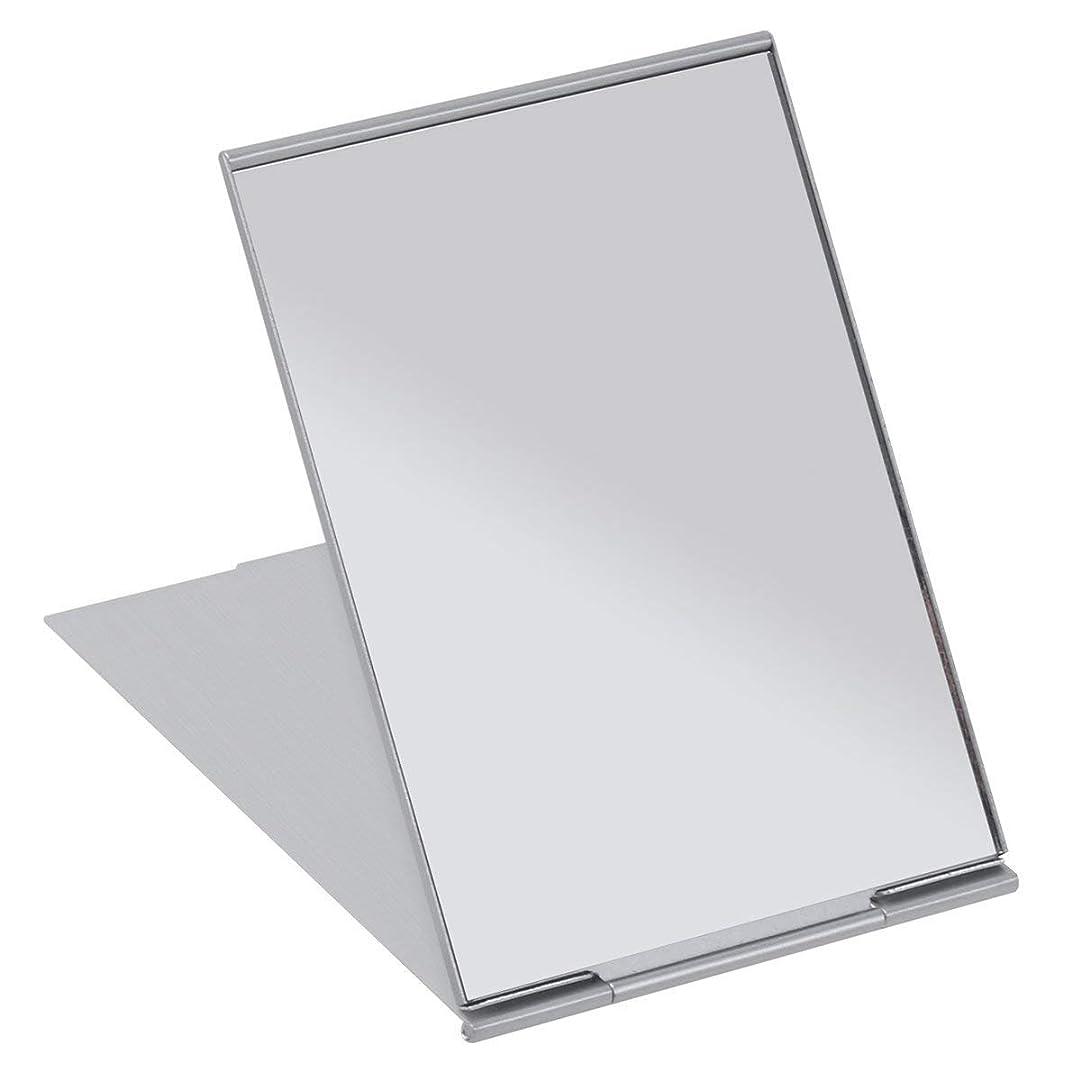 半島暫定一月SALOCY コンパクトミラー モデル折立ミラー 化粧鏡 携帯ミラー 11.5*8cm 持ち運びに便利
