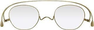 [薄さ2mmの老眼鏡ペーパーグラス] スタンダードクラシック「ボスリントン」アンティークゴールド (+3.00)おしゃれ 携帯用ケース付き 栞(しおり)型リーディンググラス メンズ レディース ギフト 鯖江 1年間保証