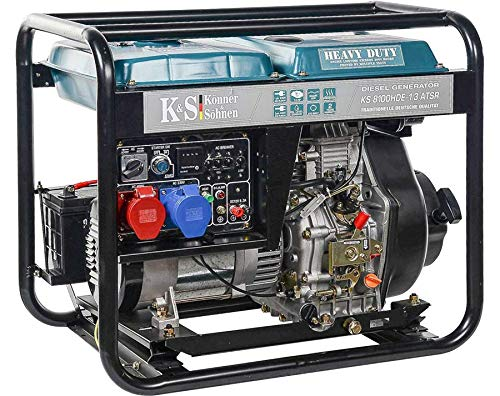 K&S | Könner&Söhnen | Diesel Generator | 230V | 400V | 6,5KW | Stromaggregat 8100HDE-1/3 | ATS Stromerzeuger