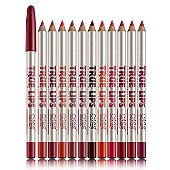 "Lip Liner Pencil Set - Matte Lipliner for Women Lip Makeup Long Lasting Lip Liners Pencils  12 assorted colors  by ""wonder X"""