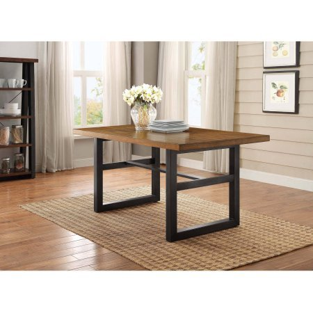 Better Homes and Gardens Mercer Dining Table, Vintage Oak finish