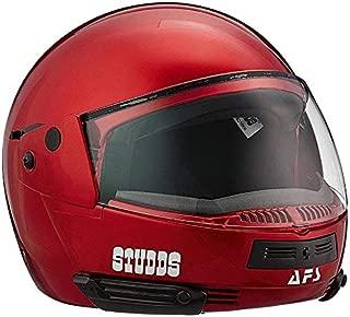 Generic studds full face helmet ninja pastel (plain cherry red, xl)