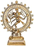 Exotic India Lord Shiva as Nataraja, Silver-Gold