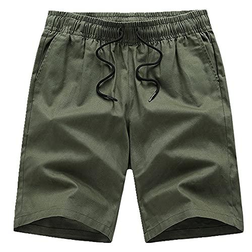 N\P Pantalones Cortos De Verano De Los Hombres Transpirables Ropa Exterior Pantalones Cortos De Los Hombres Cómodo Pantalones, Verde2, 4X-Large