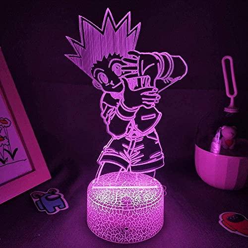 lámpara de ilusión 3D Lámpara De Ilusión Japón ideal como regalo de cumpleaños para niños, niños y hombres Siete cambios de color, con interfaz USB