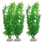 LEPSJGC 10 Uds pecera decoración de Acuario Verde Hierba de plástico Artificial Adorno de Planta Nuevo