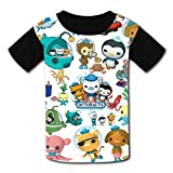 Aebipo Kid/Youth The Oc-to-nauts T-Shirts 3D Short Sleeve Tees for Girls Boys XS Black