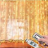 Cortina de Luces LED 3Mx3M 300LEDs, 8 Modos de lluminación, E T EASYTAO Lámparas Decorativas Impermeables para Interior y Exterior, Luz Cadena para Navidad, Fiestas, Casa, Jardín, Boda, Blanco...