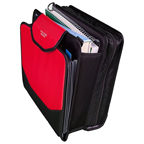 Five Star Sewn Zipper Binder, 2 Inch 3 Ring Binder With 4 Inch Capacity, Assorted Colors, Color Selected For You, 1 Count (28044) Photo #29