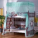GANG Poster Cama Cabina Funcional Mosquito O con Poste Canopy Cabe Cuna, Twin, Twin/Full Little Cama, Full, Queen, 110X190X260Cm Fácil instalación / 130x190x260cm