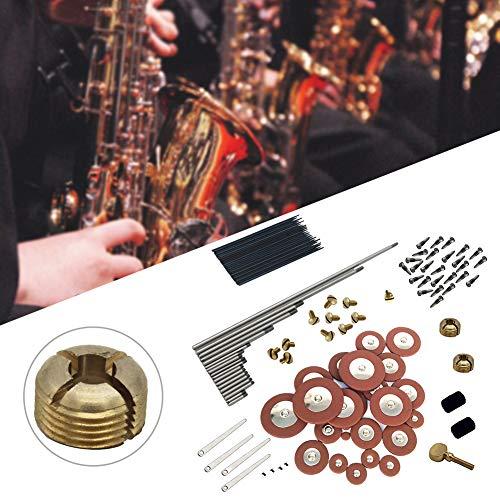 Sax RepairTool Kit Metalen Schroef Onderhoud Vervangende Onderdelen Sleutelas Deken Kolom Houtwind Instrument Praktische Naald Complete Duurzame Saxofoon Pad DIY als afbeelding tonen