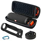 Khanka Hard Travel Case + Silicone Case Replacement for JBL Charge 4 Portable Waterproof Wireless Bluetooth Speaker
