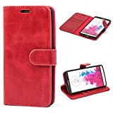 Mulbess Vintage LG G3 Case, LG G3 Phone Cover, Flip Leather