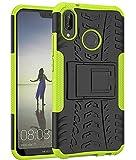 Yiakeng Funda Huawei P20 Lite Carcasa, Doble Capa Silicona a Prueba de Choques Soltar Protector con Kickstand Case para...